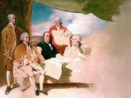 Treaty of Paris unfinished painting