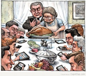 Thanksgiving cartoon texting