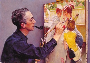 Rockwel painting a painting