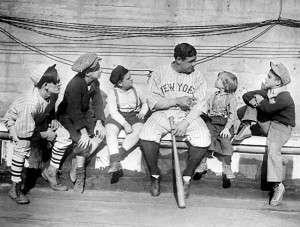 Babe Ruth & kids