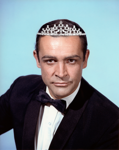 Connery with tiara
